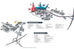 Mapa del aeropuerto de Praga.