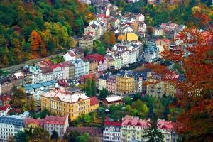 Las vistas de la ciudad Karlovy Vary